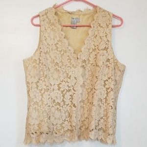 Worth Lace Lined Sleeveless Blouse
